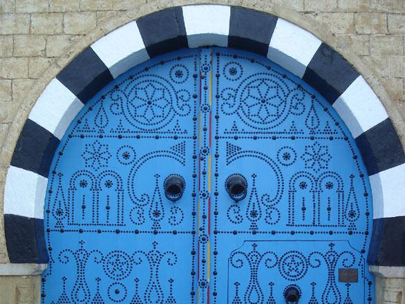Door in Sidi Bou Said Tunisia & Photo Door in Sidi Bou Said Tunisia -- Tunisia pezcame.com