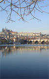 Prague castle, Vltava river, Charles bridge