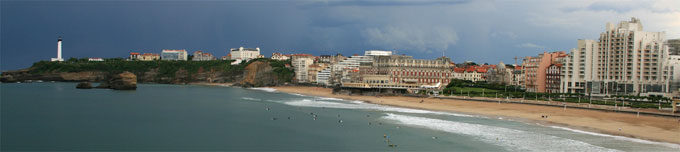 Viewed from Biarritz: the beach, hotels and the flagship