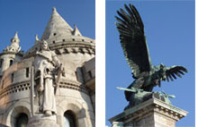 Fishermen's Bastion and imperial eagle, Budapest
