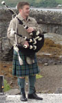 Scottish, kilts and bagpipes