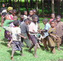 Kids in a Tanzanian village